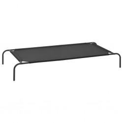 vidaXL Puerta de jardín de acero negro 1x2,5 m