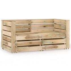 vidaXL Lavabo lujo con rebosadero cerámica azul oscuro mate 36x13 cm