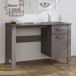 vidaXL Lámpara de trípode madera maciza de teca marrón y gris 141 cm