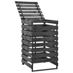 vidaXL Lámpara de trípode madera maciza de teca marrón y negro 141 cm