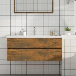 vidaXL Lavabo de lujo redondo cerámica azul oscuro mate 32,5x14 cm