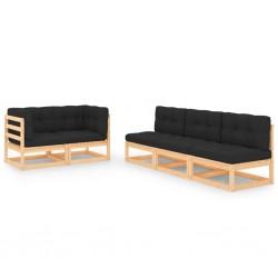 vidaXL Mampara de ducha plegable 3 paneles ESG 130x138 cm negro