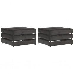 vidaXL Cortinas opacas con ojales look de lino 2 pzas azul 140x245 cm
