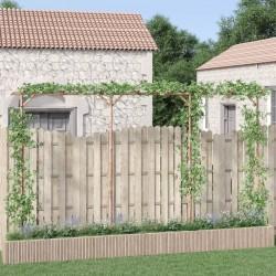 vidaXL Cortina opaca con ojales look de lino amarillo 290x245 cm