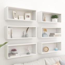 vidaXL Cajas de almacenamiento de bambú 4 unidades gris