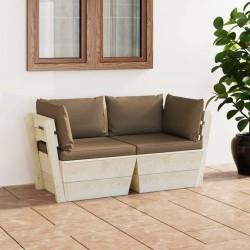 vidaXL Mesita de noche de madera maciza de acacia 40x30x51 cm