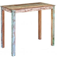 vidaXL Mesita de noche tallada de madera maciza de mango 40x30x50 cm