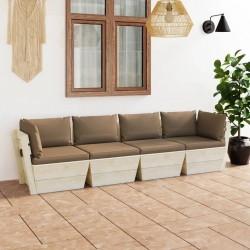 vidaXL Estante de almacenamiento 4 cestas de tela acero gris