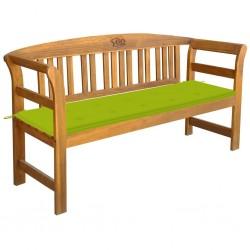 vidaXL Mesita de noche madera maciza acacia y MDF 40x30x53 cm