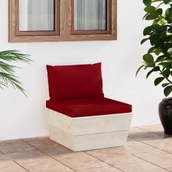 Fruit of the Loom Camisetas originales 5 uds rojo M algodón