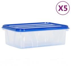 Fruit of the Loom Camisetas originales 5 uds azul claro M algodón