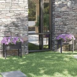 vidaXL Reloj de pared de metal negro 60 cm