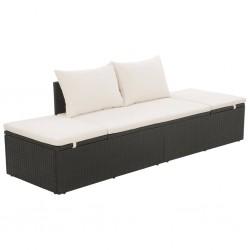 vidaXL Reloj de pared de MDF marrón y blanco 39,5 cm