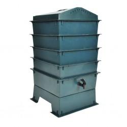 vidaXL Fregadero de cocina con rebosadero granito negro