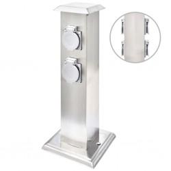 vidaXL Reloj de pared de hierro multicolor 51 cm