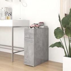 vidaXL Silla de oficina voladiza de tela marrón