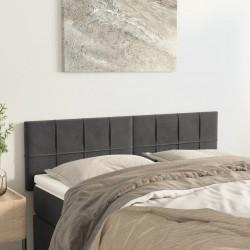 vidaXL Silla de oficina voladiza de tela gris