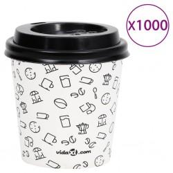 vidaXL Silla de oficina voladiza de cuero sintético marrón