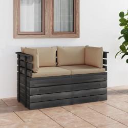 vidaXL Fregadero de cocina con rebosadero ovalado granito beige