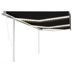 Funda color antracita para sofá de micro-gamuza, 270 x 350 cm