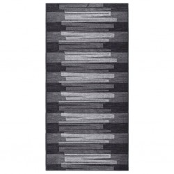 vidaXL Mesita de noche de madera maciza de sheesham gris 40x30x50 cm