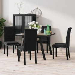 Fruit of the Loom Camisetas originales 5 uds negras 4XL algodón