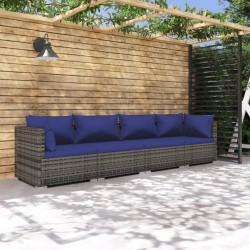 Fruit of the Loom Camisetas originales 10 uds gris S algodón