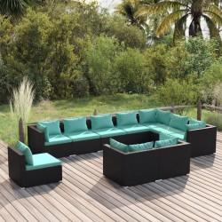 Fruit of the Loom Camisetas originales 5 uds azul marino XXL algodón