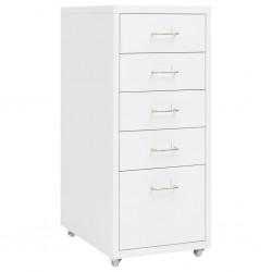 vidaXL Perfiles de suelo 5 unidades aluminio plateado 100 cm