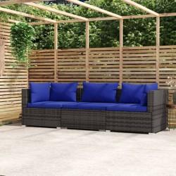 vidaXL Perfiles de suelo 5 unidades aluminio dorado 100 cm