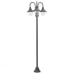 vidaXL Lámpara de mesa industrial redonda blanca 58x18x90 cm E27