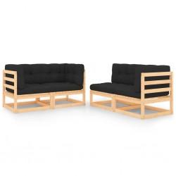 vidaXL Contrapuntos para torno de madera 4 piezas acero MT2