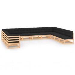 vidaXL Set de herramientas de torneado indexable 12 pzas 12x12mm 80mm