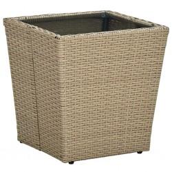vidaXL Reloj de mesa gris hierro y MDF 26,5x19,5x15 cm