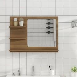 vidaXL Mesita de noche madera maciza de caoba 35x30x60 cm