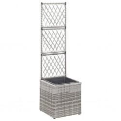 vidaXL Tumbona de suelo plegable de cuero sintético rojo