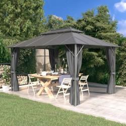 vidaXL Set de muebles de jardín 11 piezas ratán sintético marrón