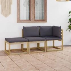 vidaXL Cabezal de ducha efecto lluvia acero inox redondo negro 20 cm