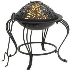 vidaXL Cabezal ducha efecto lluvia acero inox cuadrado negro 50x30 cm