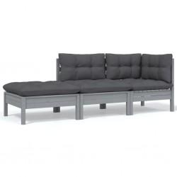 vidaXL Set de manilla de puerta curvada con pestillo WC acero inoxidable