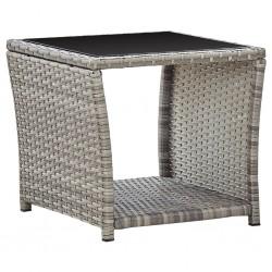 vidaXL Set de manilla y barra para puerta acero inoxidable 350 mm