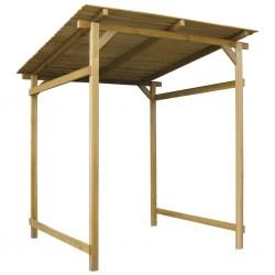 vidaXL Set de manilla y barra para puerta PZ acero inoxidable 500 mm