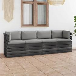 vidaXL Mueble para el televisor de vidrio templado negro 96x46x50 cm