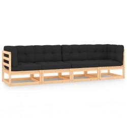 vidaXL Cama elástica fitness con asa y almohadilla de seguridad 102 cm