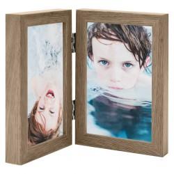vidaXL Lamas para suelo PVC autoadhesivas 4,46 m² 3 mm gris y marrón