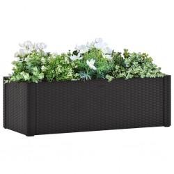 vidaXL Set de muebles de jardín 2 pzas y cojines ratán sintético negro