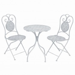 vidaXL Lámpara colgante industrial redonda mango 25 W blanco 32 cm E27