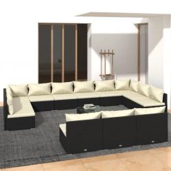 4 fundas color antracita para cojines de imitación de lino, 40 x 40 cm