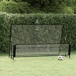 vidaXL Set de comedor de jardín de 5 piezas vidrio y acero negro
