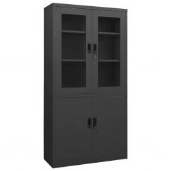vidaXL Set de comedor de jardín 7 piezas vidrio y acero negro